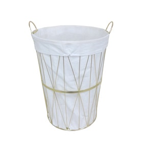 Gold Wire Laundry Basket