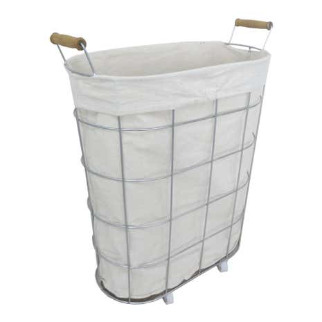Wheeled Wire Laundry Basket
