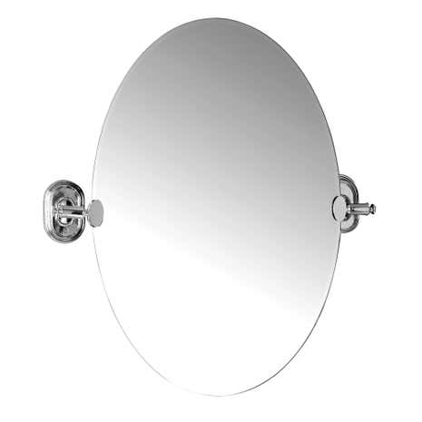 Dorma Beaded Stainless Steel Wall Mount Mirror