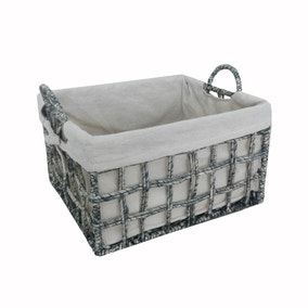 Maize Rope Grey Basket