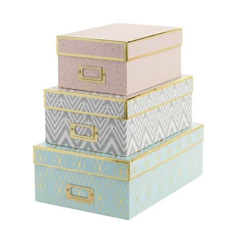 Set of 3 Stockholm Boxes  sc 1 st  Dunelm & Storage Boxes | Plastic Storage Boxes | Dunelm Aboutintivar.Com
