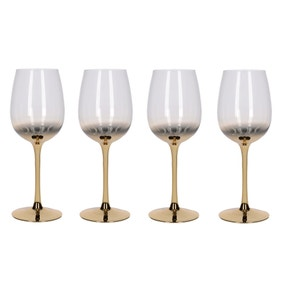 5A Fifth Avenue Gold Ombre Set of 4 Red Wine Glasses