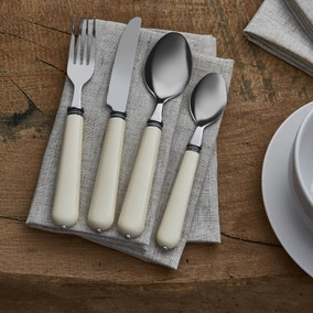 Vintage Cream 16 Piece Cutlery Set