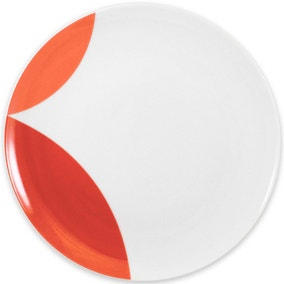 Elements Red Circle Dinner Plate