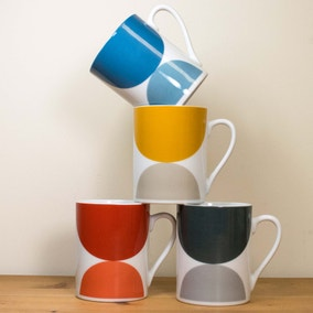 Elements Pack of 4 Circle Mugs