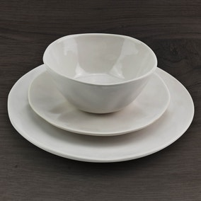 Lisse 12 Piece Cream Dinner Set