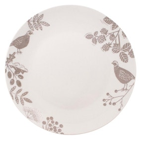 Woodland Taupe Dinner Plate