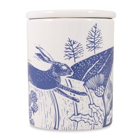 Woodland Blue Hare Canister