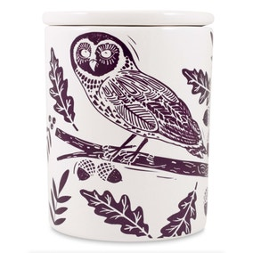 Woodland Purple Owl Canister