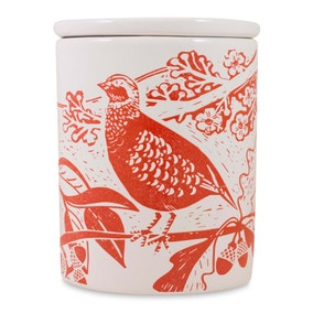 Woodland Red Partridge Canister