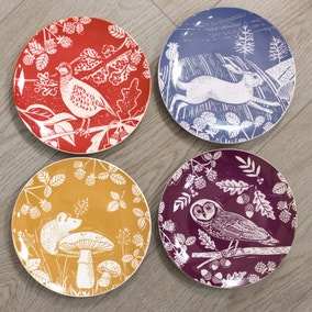 Woodland Pack of 4 Side Plates