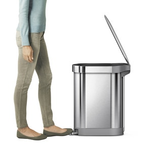 simplehuman 45L Brushed Steel Slim Pedal Bin