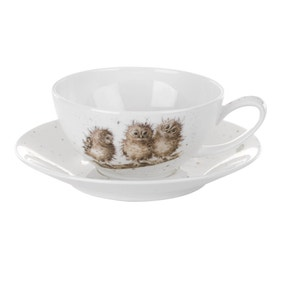 Wrendale Large Owls Cup and Saucer