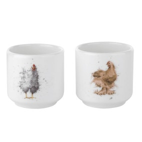 Wrendale Chickens Set of 2 Egg Cups
