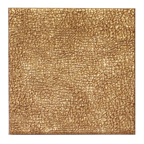 Pack of 4 Faux Leather Gold Coasters