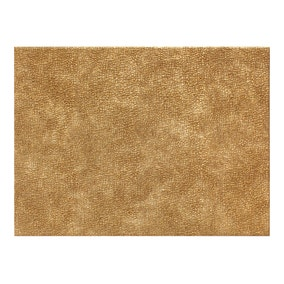 Pack of 4 Faux Leather Gold Placemats
