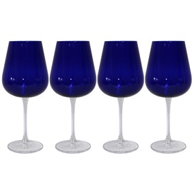 Mode Pack of 4 Blue Wine Glasses