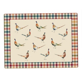 Pack of 4 Pheasant Placemats