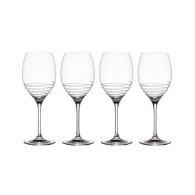 Villeroy & Boch Pack of 4 Burgundy Spiral Wine Goblets