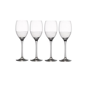 Villeroy & Boch Pack of 4 Spiral White Wine Goblets