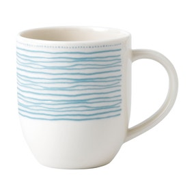 Ellen DeGeneres by Royal Doulton Blue Polar Dot Mug