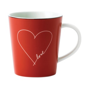 Ellen DeGeneres by Royal Doulton Red Valentine Mug