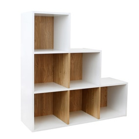 Rome Modular 6 Step Cube Shelving Unit