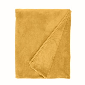 Seriously Soft Ochre Throw