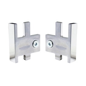 Silverline Pack of 2 Chrome Track End Covers