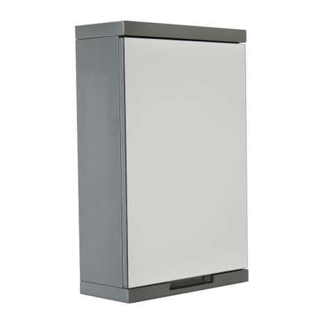 Siena grey mirror cabinet dunelm for Bathroom cabinets dunelm