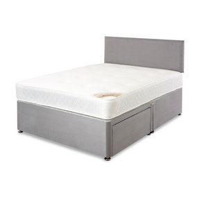 Suede Platform Top 2 Drawer Headboard Divan Set