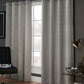 Marnie Grey Eyelet Curtains