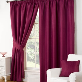 Wenden Aubergine Pencil Pleat Curtains