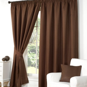 Wenden Brown Pencil Pleat Curtains