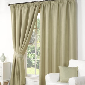 Wenden Green Pencil Pleat Curtains