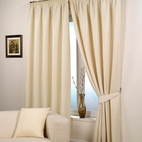 Wenden Natural Pencil Pleat Curtains