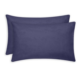 Brushed Cotton Navy Housewife Pillowcase