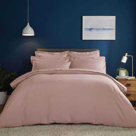 Fogarty Soft Touch Dusky Pink Duvet Cover And Pillowcase