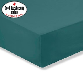 Non Iron Teal Fitted Sheet