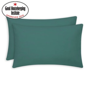 Non Iron Colonial Teal Housewife Pillowcase Pair