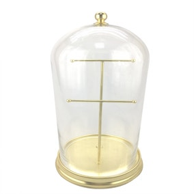 5A Fifth Avenue Cloche jewellery holder brass