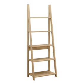 Nordic Brown Ladder Bookcase