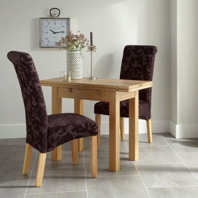 Brent Aubergine 2 Seater Folding Dining Set