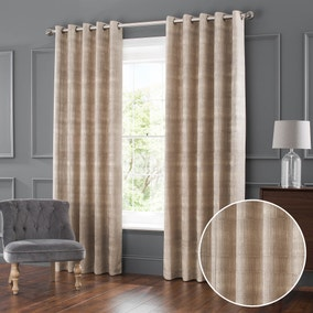 Ekon Natural Jacquard Eyelet Curtains