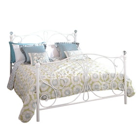 panache white crystal bedstead