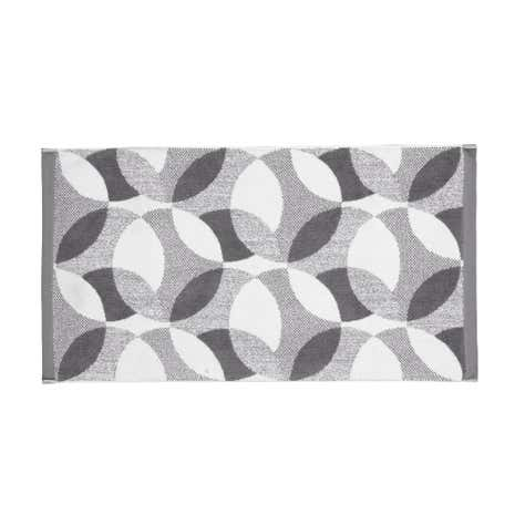 Lindsey Lang Grey Leaf Bath Mat