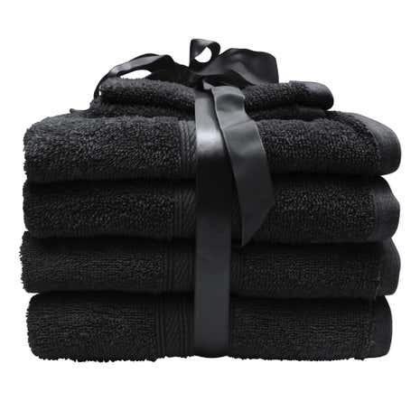 6 Piece Shadow Grey Towel Bale