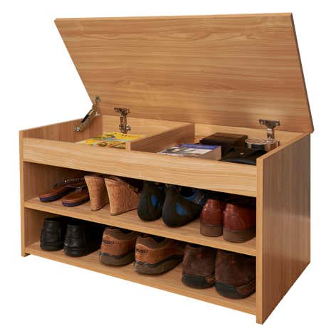 Lift top shoe cabinet dunelm for Zapateras de madera