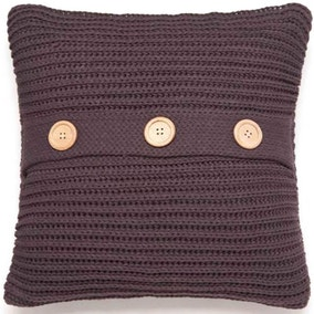 Chunky Knit Charcoal Cushion Cover