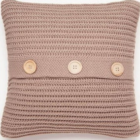 Chunky Knit Natural Cushion Cover
